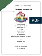 Judicial Seaparation