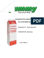 50304171 Marketing Report on Flavoured Milk