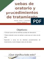 pruebas de laboratorio y procedimientos de tratamiento-curso term101
