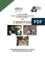 Informe Semestral COOPFORH Oct 2012 Marzo 2013 Sitio WEB