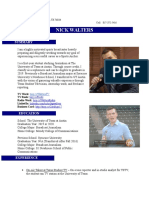 April 2017 Resume Nick Walters