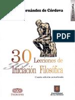 30 Lecciones de Iniciacion Filosofica - Pilar Fernandez de Cordova