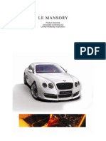 Bentley LE MANSORY GT Overview