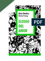 Badiou Alain Y Truong Nicolas - Elogio Del Amor
