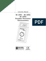 Manual Termometro HI8751