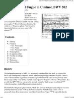 Passacaglia and Fugue in C Minor, BWV 582 - Wikipedia