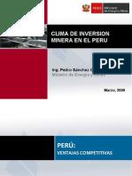 Clima de Inversion Minera 2009