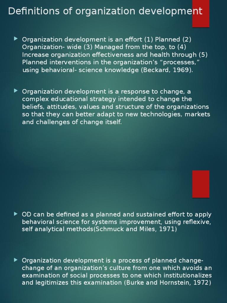 importance of organizational development ppt