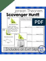 pythagorean scavenger hunt - customary and metric