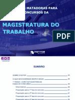 E-book Estratégias Matadoras Para Passar Em Concursos Da Magistratura Do Trabalho