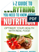 A Z Guide to Everything About Nutrition