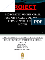 MOTORIZED WHEEL CHAIR FOR PHYSICALLY DISABLED PERSON WITH LIFTING MODEL