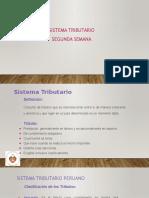 DERECHO TRIBUTARIO I (CÓDIGO TRIBUTARIO)  - Semana 2 Sistema Tributario
