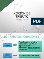 DERECHO TRIBUTARIO I (CÓDIGO TRIBUTARIO)  - Semana 2 Tributo