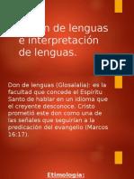 El Don de Lenguas e Interpretación de Lenguas