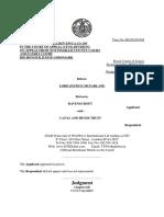 Ravenscroft v CaRT, Appeal Permission Judgment, 25 Jan. 2017