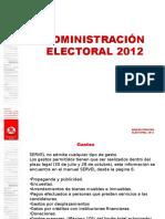 02 Administración Electoral 2012