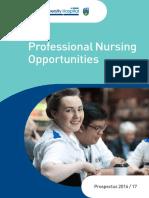 Nurse Practice Development Nursing Prospectus