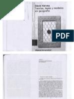 David Harvey Teorias Leyes y Modelos en Geografía