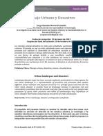 Sociologia Del Paisaje Urbano y Desastres