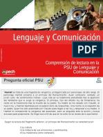 Clase 04 Comprensión de lectura en la PSU de Lenguaje y Comunicación