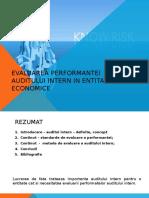 Evaluarea Auditului Intern in Entitatea Economica