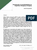 International Journal of the Sociology of Language Volume 117 issue 1 1996 [doi 10.1515%2Fijsl.1996.117.1] ELIZAINCÍN, ADOLFO -- Introducción- la sociolingüística en Argentina, Paraguay y Uruguay