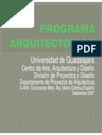 Modulo III. Programa Arquitectónico. Mtro. Arq.mario Córdova