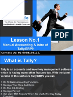 Manual Accounting & introduction of Tally.ERP9 - Lesson 1