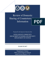Review of domestic sharing of counterterrorism information