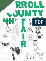 The 1993 annual Carroll County Maryland 4-H FFA Fair program