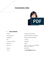 CV modelo especial