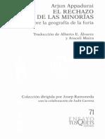 Arjun Appadurai El Rechazo