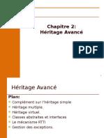 Chapitre 2- Héritage Avancée (1)