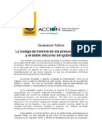 Declaracion Pública sobre Presos Políticos Mapuche ACCION
