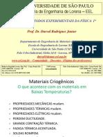 Criogenia(aula2)MateriaisCriogenicos