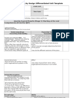 understanding by design differentiated unit template