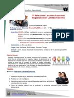 VI Relaciones Laborales Colectivas - Negociación Contrato Colectivo