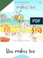 Bee Makes Tea Usborne Phonics Readers