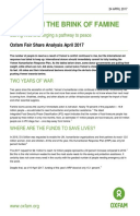 Yemen on the Brink of Famine: Forging a pathway to peace. Oxfam Fair Share Analysis April 2017