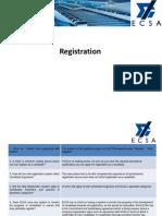 ECSA FAQ Registration questions