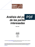 Stakeholder Power Tool Spanish