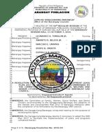 Barangay Resolution 2016 03