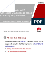 Introduction to the RAN14.0 Feature–CE Congestion-Caused Load-based Inter-Frequency Handover V1.2