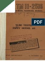 TM11-2516 Tube Tester Espey Model 105, 1944