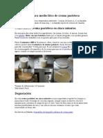 Ingredientes Para Medio Litro de Crema Pastelera