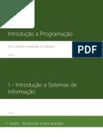Aula 1 - Introdução a Programação