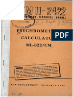 TM11-2422 Psychrometric Calculator ML-322 UM, 1945