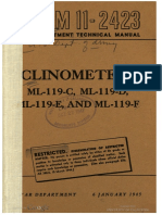 TM11-2423 Clinometers ML-119-C, ML-119-D, ML-119-E, And ML-119-F, 1945