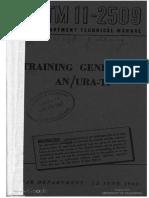 TM11-2509 Training Generator an URA-T1, 1944